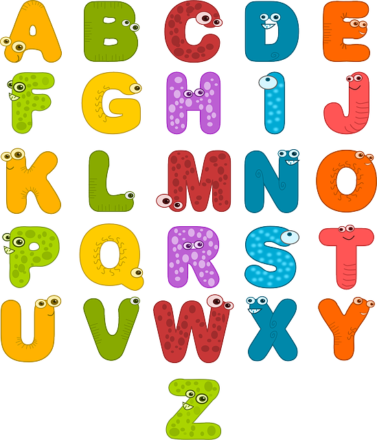 Alphabet, Eyes, Letters, Funny, Colorful, Symbols