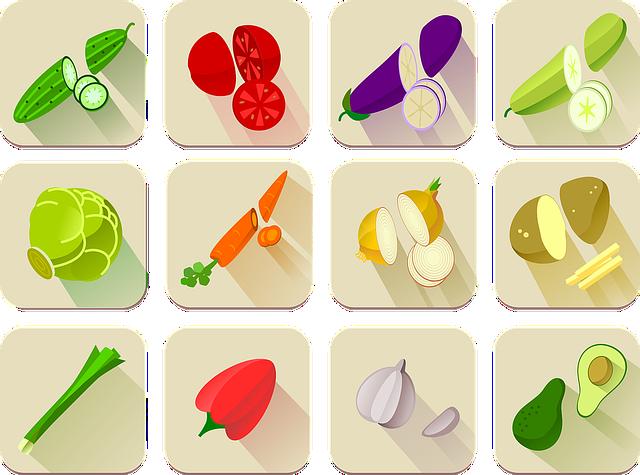 Alphabet Word Images, Avocado, Carrot, Cucumber