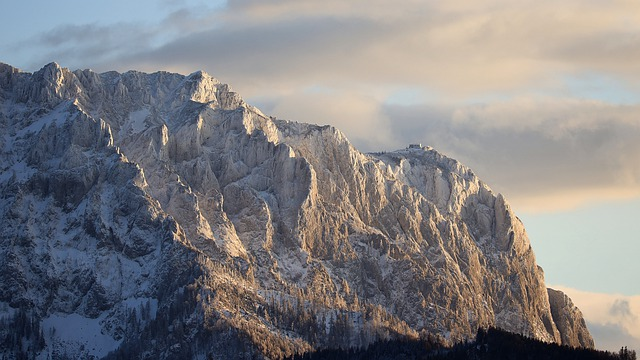Alpine, Mountain, Landscape, Sunset, Austria, Wintry