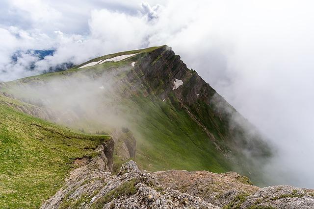 Nature, Mountains, Alpine, Fog, Mystical, Landscape