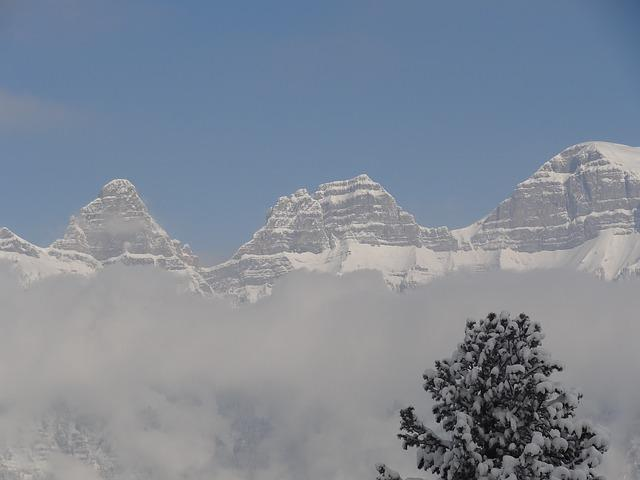 Mountains, Snow, Fog, Ski Run, Winter, Alpine