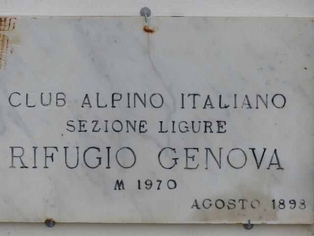 Information Board, Hut, Alpine Hut, Rifugio Genova