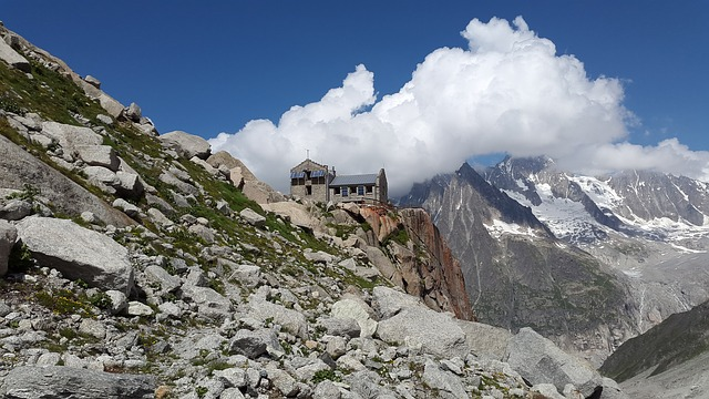 Refuge Du Requin, Hut, Mountains, Mountain Hut, Alpine