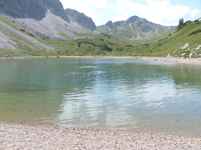 Pool, Lake, Stone Kar Tip, Bergsee, Swim, Alpine Lake