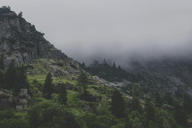Mountains, Fog, Gloomy, Landscape, Clouds, Pass, Alpine