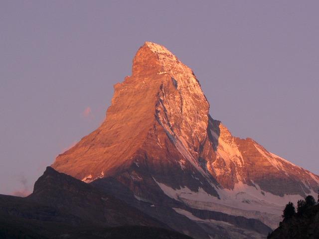 Matterhorn, Alpine, Valais, Mountain