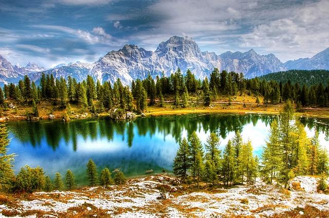 Dolomites, Lago Federa, Nature, Lake, Alpine, Mountains