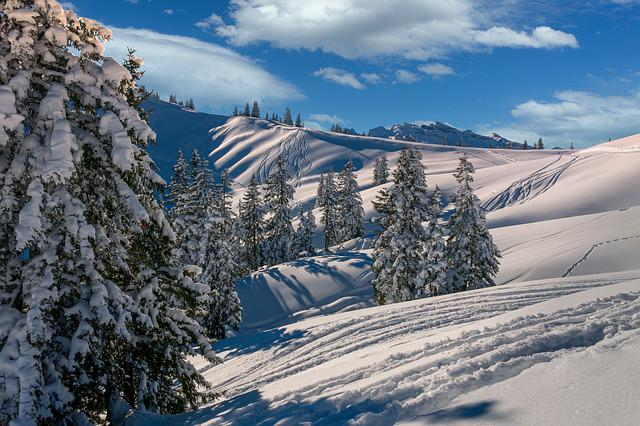Winter, Mountains, Snow, Landscape, Nature, Alpine