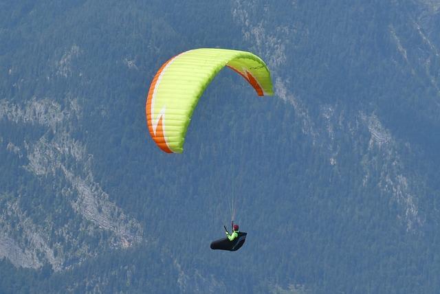 Paragliding, Austria, Mountains, Flying, Alpine