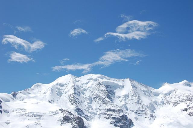 Mountains, Piz Palu, Bernina, Alpine