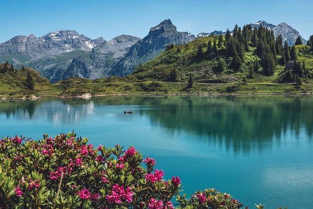 Trüebsee, Titlis, Switzerland, Panorama, Alpine