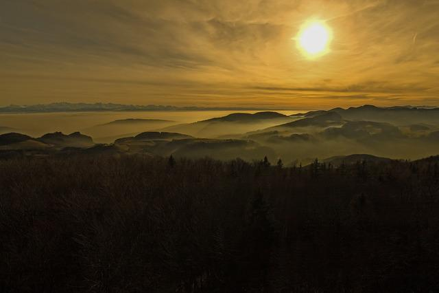 Jura, Alpine, Fog, Haze, Alps, Swiss Jura, Lighting
