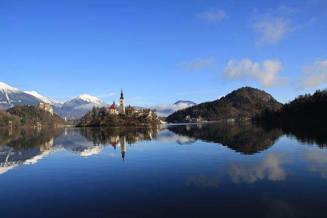 Lake, Castle, Alps, Mountain, European, Alpine