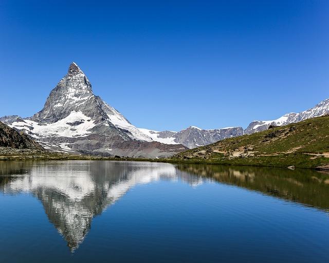 Swiss, Zermatt, Horn, Alps, Mountain, Scenery, Lake