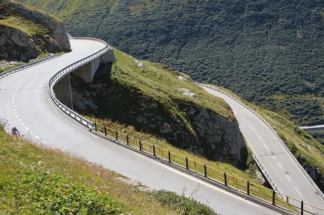Switzerland, Winding Roads, Alps, Mountain Pass