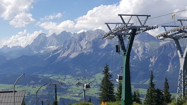 Dachstein, Alps, Cableway, Planai, Landscape, Mountains