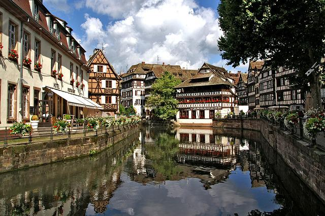 Strasbourg, France, Alsace, Truss, Water Channel