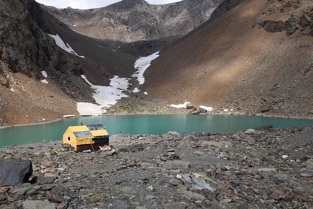 Geologist, Mountain Lake, Mountain Altai, Altai