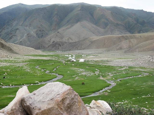 Mongolia, Altai, Yurts