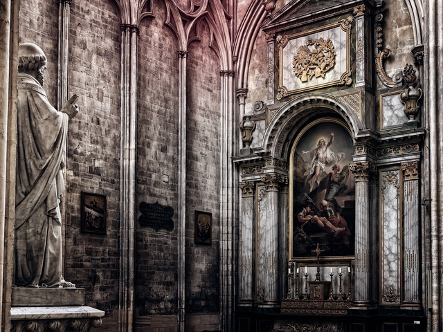 Altar, Church, Religion, Christianity, Building, Dom