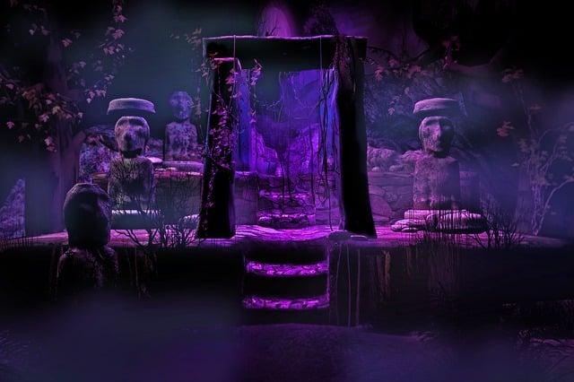 Fantasy, Setting, Background, Backdrop, Temple, Altar