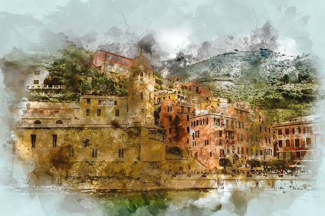 Cinque Terre, Italy, Beach, Amalfi Coast, Buildings