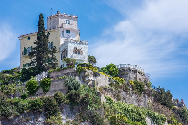 Amalfi, Amalfi Coast, Cliff, Home, Villa
