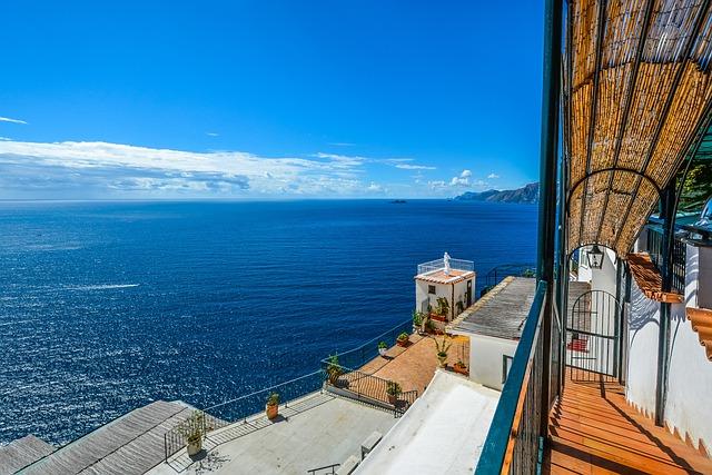 Amalfi, Coast, Sea, Mediterranean, Resort, Summer
