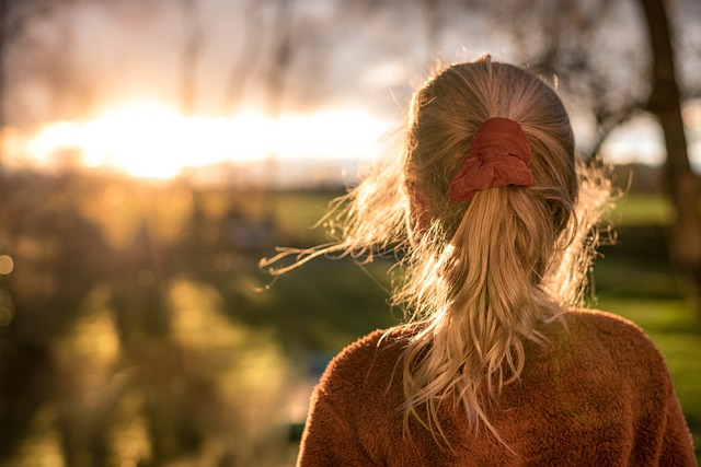 Girl, Pony Tail, Sunset, Hair, Model, Woman, Ambience