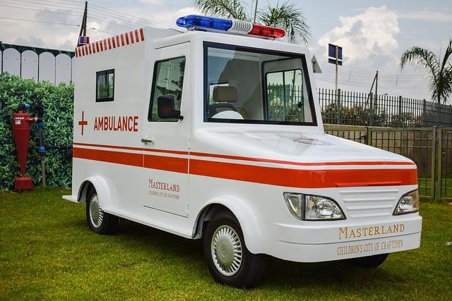 Ambulance, Car, Vehicle, Amusement Park