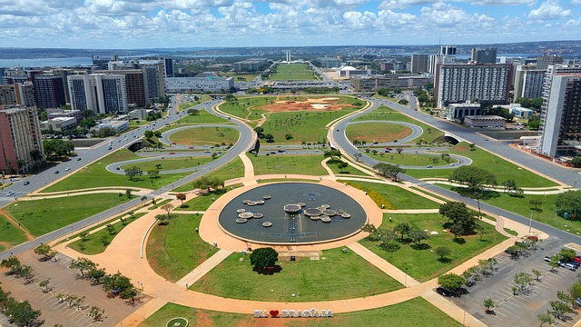 Brasilia, Brasil, Sky, National, America, Sign