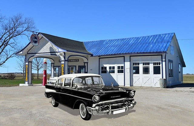 Old Gas Station, Chevrolet, Old, Usa, Gas Pump, America