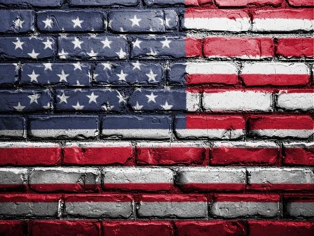 Flag, Usa, America, Wall, Painted, American, Usa Flag