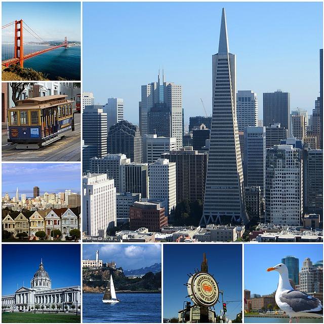 San Francisco, Photo Collage, Collage, Travel, America