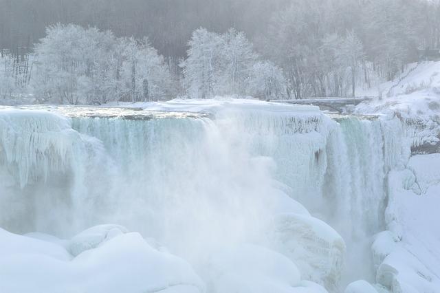 American Falls, Niagara Falls, Winter, Ice, Snow