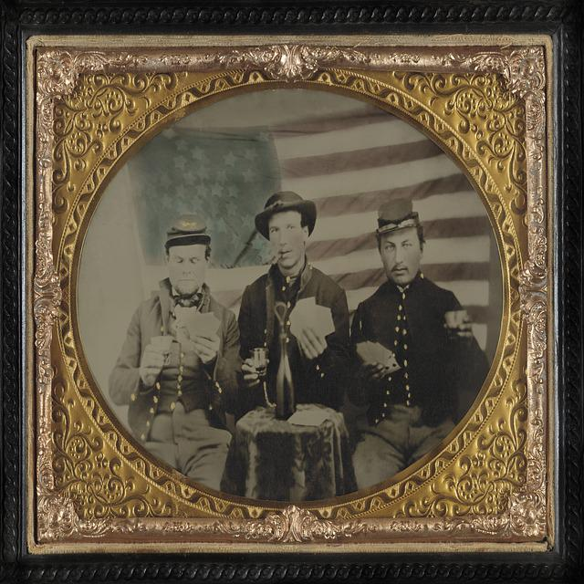 Civil War, Confederate, Soldiers, Flag, American, Cigar