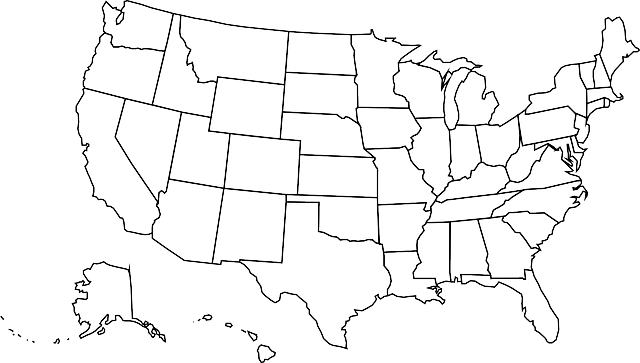 Usa, Map, United, States, Of, America, Us, American