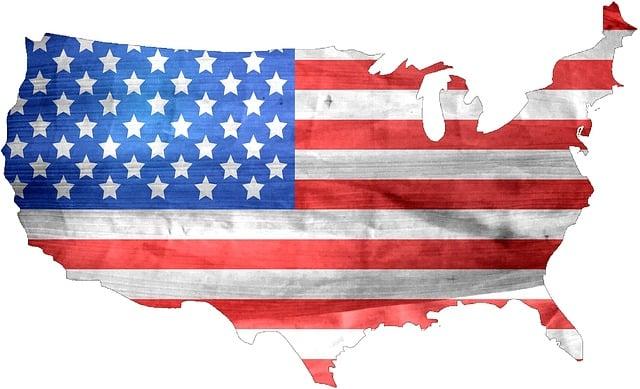American Flag, American, Flag, Usa, Symbol, Map