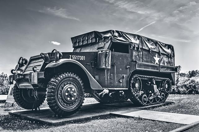 Vehicle, American, Vintage, World, War, D-day, Memorial