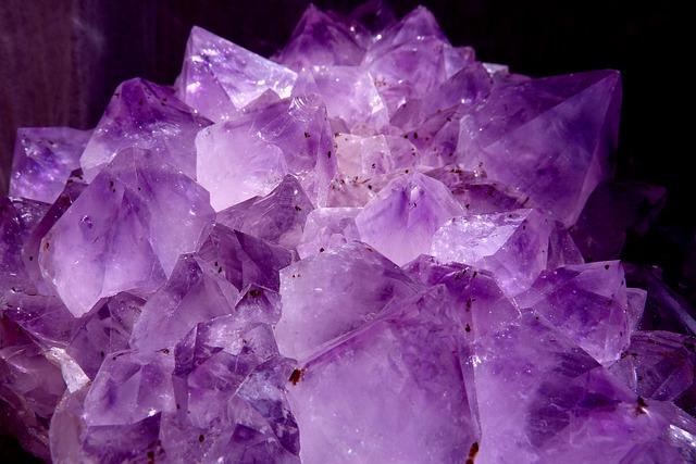 Gem, Amethyst, Violet, Crystal Cave, Druze, Gem Top