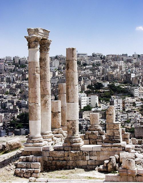 Amman, Jordan, Ancient, Roman, Monument, Historic