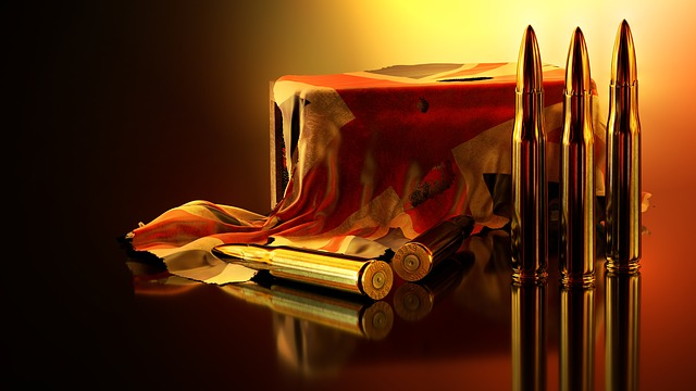Ammunition, Flag, Box, Mirroring, Background, 3d