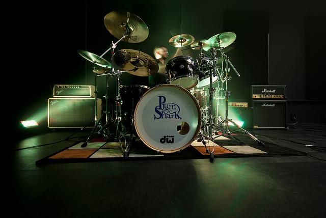 Drum, Battery, Live, Show, Amplifier, Music, Musician