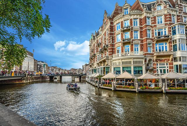 Amsterdam, Canal, Restaurant, Netherlands, Boat