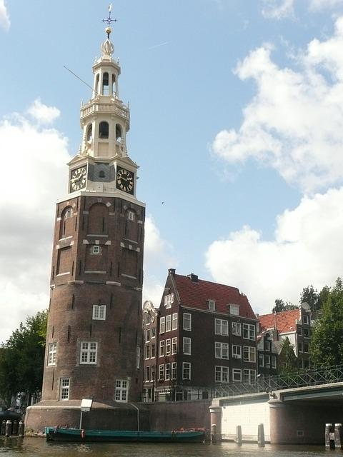 Amsterdam, Channel, Tour, Oude Kerk Old Church Tower