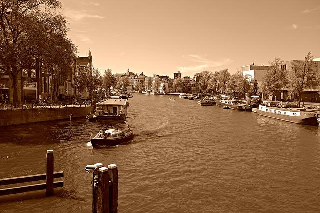 Amsterdam, Amstel River, City Center