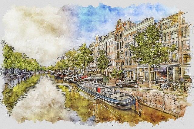 Amsterdam, Canal, Storm, City, Sky, Netherlands