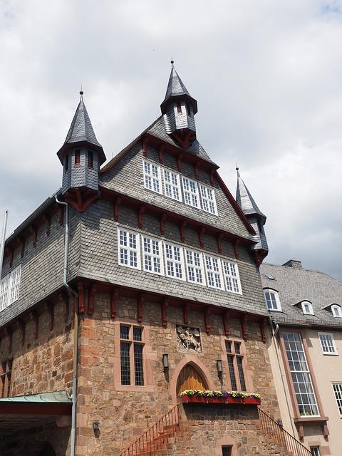Town Hall, Home, Amtshaus, Building, Window, Shingle