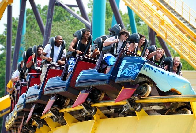 Roller Coaster, People, Fun, Entertainment, Amusement