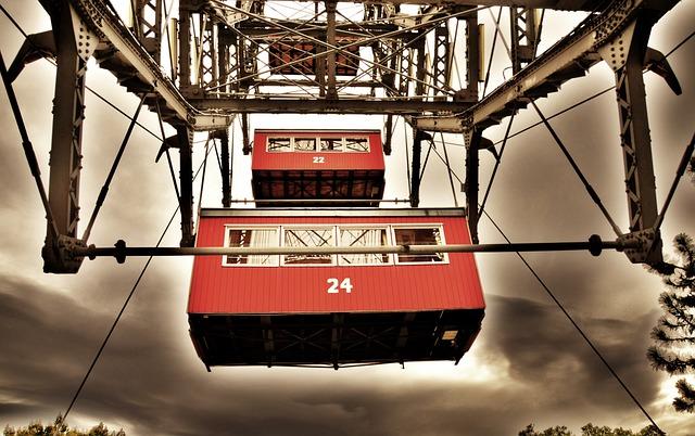 Ferris Wheel, Vienna, Prater, Austria, Amusement Park